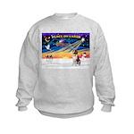 XmasSunrise/St Bernard Kids Sweatshirt