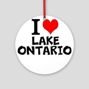 I Love Lake Ontario Round Ornament