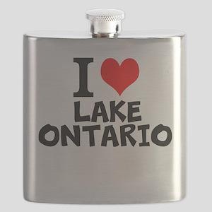 I Love Lake Ontario Flask