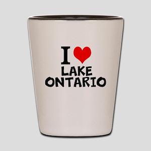 I Love Lake Ontario Shot Glass