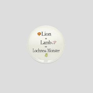 Lion Plus Lamb Equals Lochnes Mini Button
