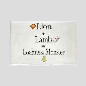 Lion Plus Lamb Equals Lochnes Rectangle Magnet