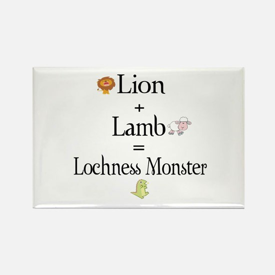 Lion Plus Lamb Equals Lochnes Rectangle Magnet