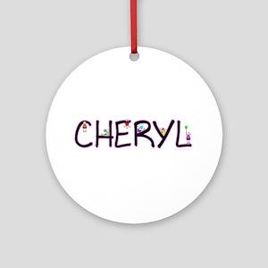 Cheryl (Girl) Ornament (Round)