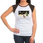 Night Flight/Golden 12 Women's Cap Sleeve T-Shirt
