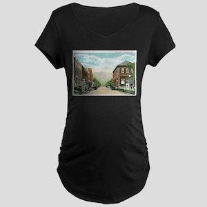 Livingston Montana MT Maternity Dark T-Shirt