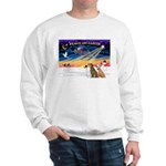 XmasSunrise/3 Greyhounds Sweatshirt