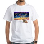 XmasSunrise/3 Greyhounds White T-Shirt