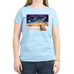 XmasSunrise/3 Greyhounds Women's Light T-Shirt