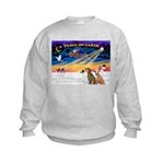 XmasSunrise/3 Greyhounds Kids Sweatshirt