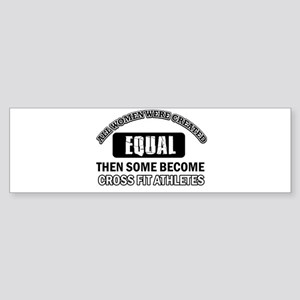 Cross Fit Athletics Design Bumper Sticker