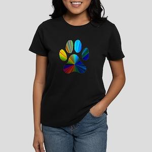 PAW PRINT Women's Dark T-Shirt