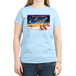 XmasSunrise/2 Weimaraners Women's Light T-Shirt