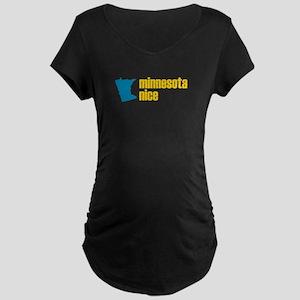 Minnesota Nice Maternity Dark T-Shirt