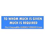 Responsible American Bulldog Owner (Bumper)