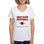 Ramapo Football Women's V-Neck T-Shirt