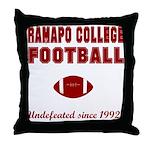 Ramapo Football Throw Pillow