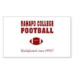 Ramapo Football Rectangle Sticker 10 pk)