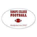 Ramapo Football Oval Sticker (50 pk)
