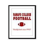 Ramapo Football Framed Panel Print