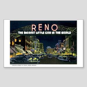 Reno Nevada NV Rectangle Sticker