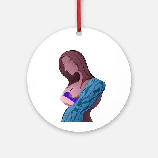 Nursing Mother Ornament (Round)