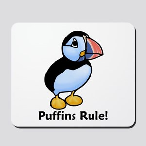 Puffins Rule! Mousepad