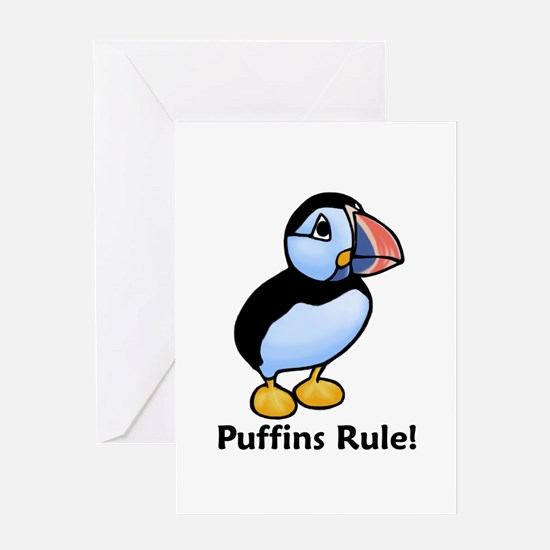 Puffins Rule! Greeting Card