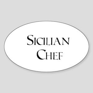 Sicilian Chef Oval Sticker