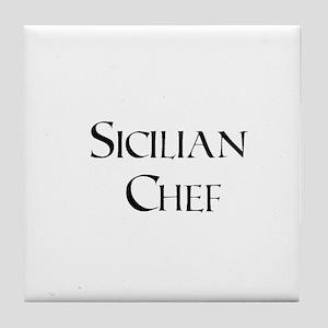 Sicilian Chef Tile Coaster