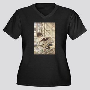 Read a Book Women's Plus Size V-Neck Dark T-Shirt