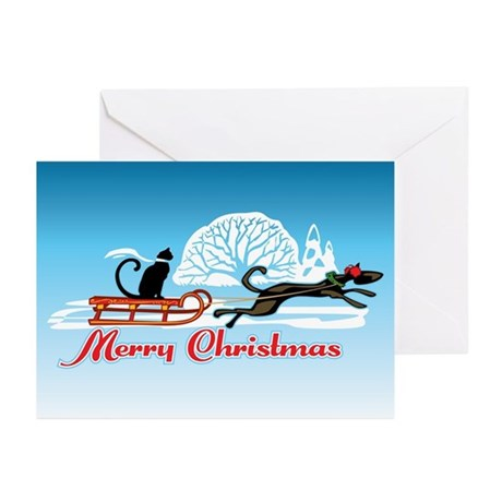 Christmas Pet Parade Greeting Cards (Pk of 20)