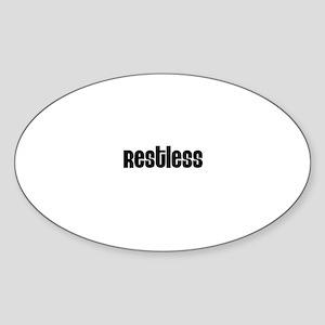 Restless Oval Sticker