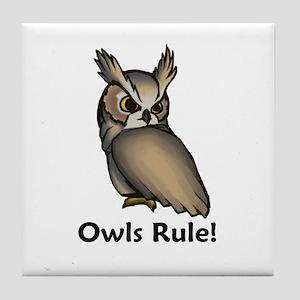 Owls Rule! Tile Coaster