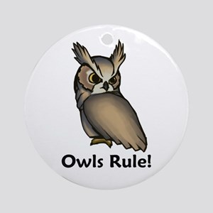 Owls Rule! Ornament (Round)