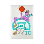 SABRA DOG(Basketball)Jewish Rectangle Magnet (100