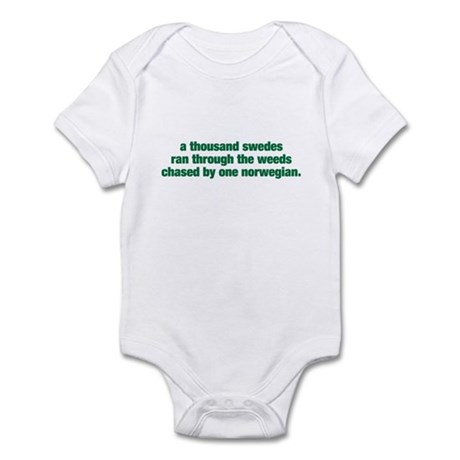 A Thousand Swedes... Infant Bodysuit