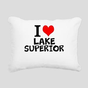 I Love Lake Superior Rectangular Canvas Pillow