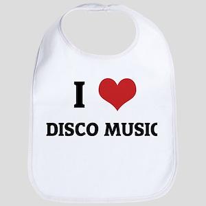 I Love Disco Music Bib