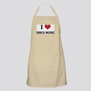 I Love Disco Music BBQ Apron