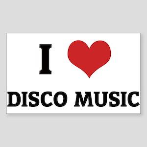 I Love Disco Music Rectangle Sticker