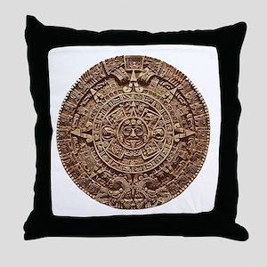 Aztec Calendar Throw Pillow