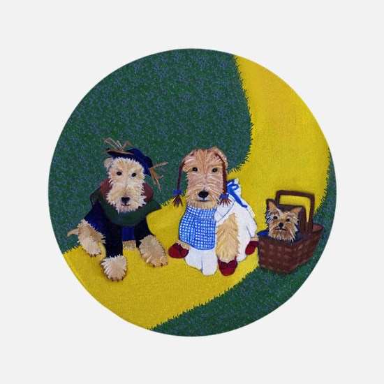 "Dogs In Oz 3.5"" Button"