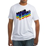 RACISM IS OVER!: Fitted T-Shirt
