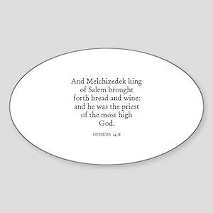 GENESIS 14:18 Oval Sticker