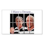 """""""I Have a Dream"""" Rect Sticker (10)"""