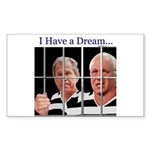 """""""I Have a Dream"""" Rect Sticker (50)"""