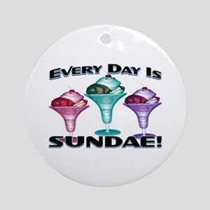 Sundae Everyday Ornament (Round)