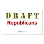 """Draft Republicans"" Rect Sticker"