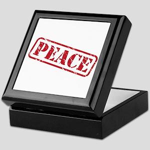 peace stamp Keepsake Box